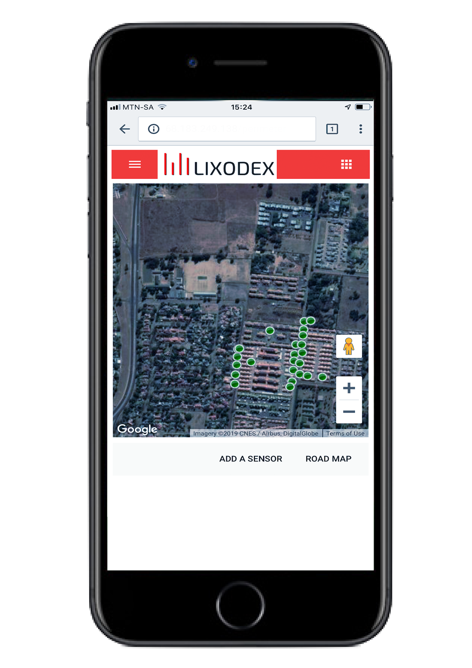 Lixodex security solutions mobile phone, google maps