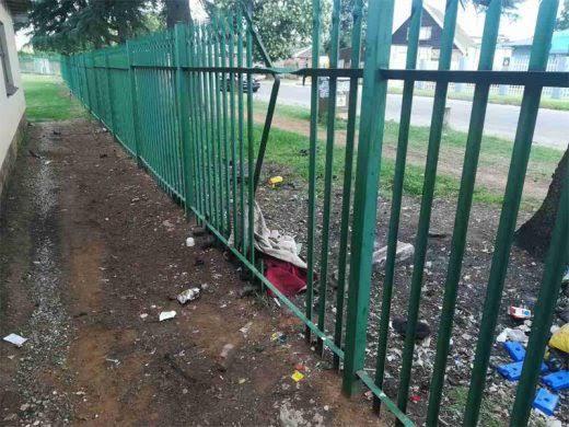 Palisade fence breach perimeter security